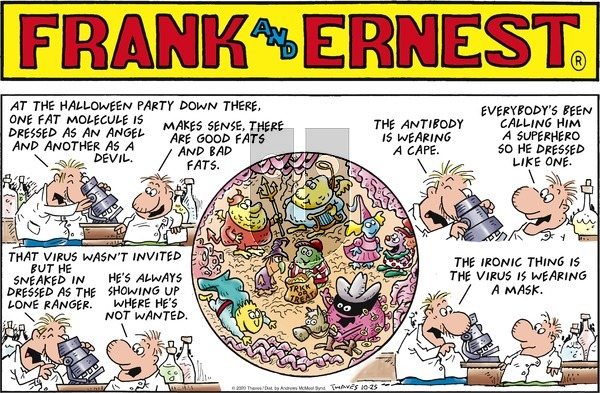 Frank and Ernest on Sunday October 25, 2020 Comic Strip