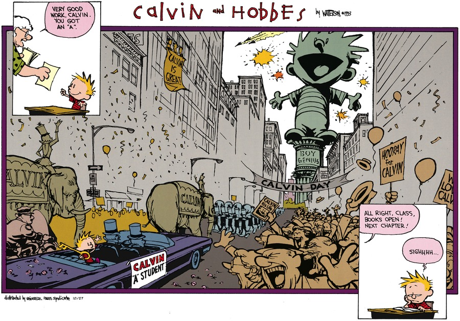 Calvin and Hobbes for Oct 27, 2013 Comic Strip