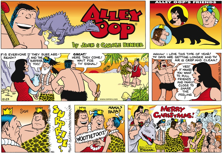 Alley Oop for Dec 23, 2001 Comic Strip