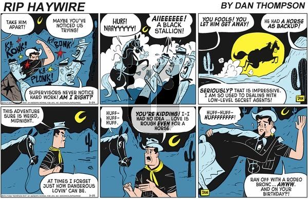Rip Haywire - Sunday May 24, 2020 Comic Strip
