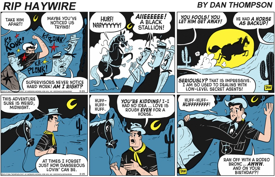 Rip Haywire Comic Strip for May 24, 2020