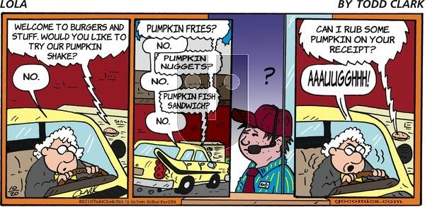 Lola - Sunday October 20, 2019 Comic Strip