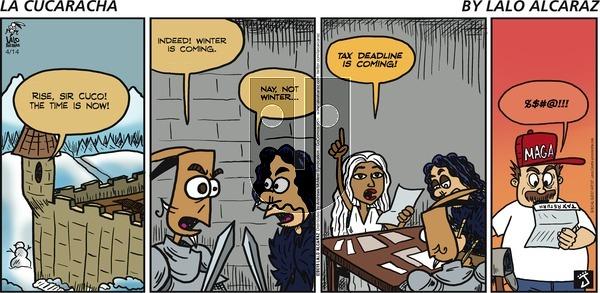 La Cucaracha on Sunday April 14, 2019 Comic Strip