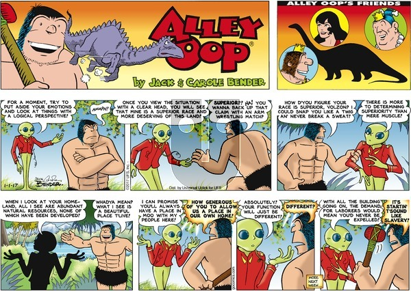 Alley Oop on Sunday January 1, 2017 Comic Strip