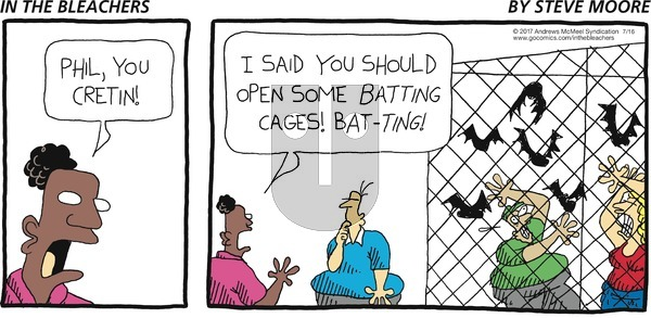 In the Bleachers on Sunday July 16, 2017 Comic Strip