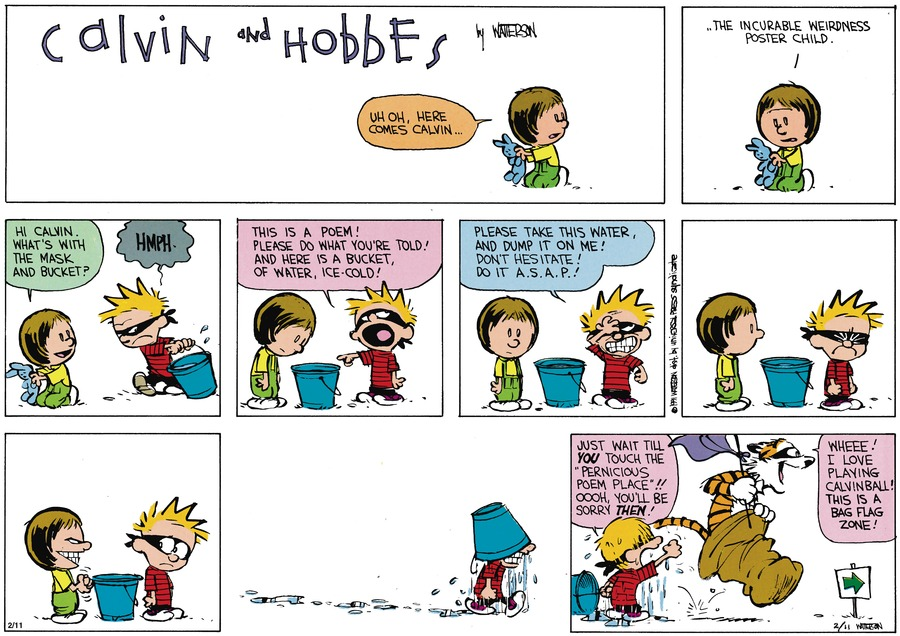 Calvin and Hobbes Comic Strip for March 31, 1991