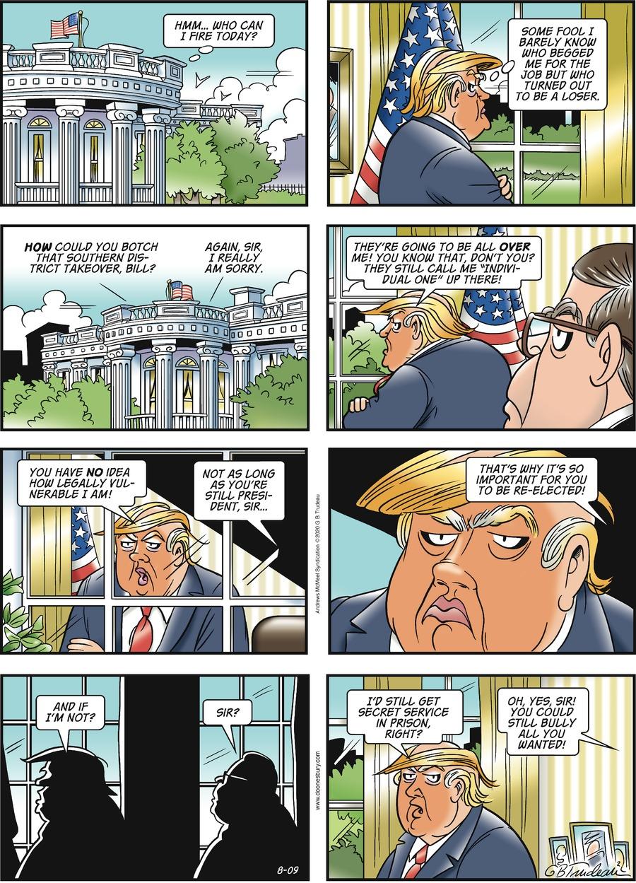 Doonesbury Comic Strip for August 09, 2020