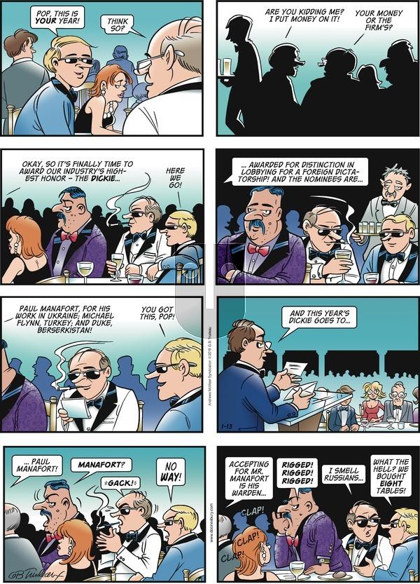 Doonesbury - Sunday January 13, 2019 Comic Strip
