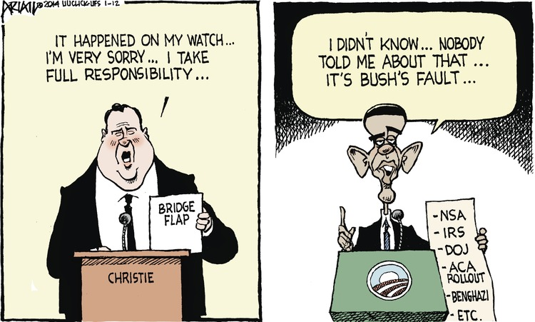 Chris Christie: It happened on my watch... I'm very sorry... I take full responsibility. 