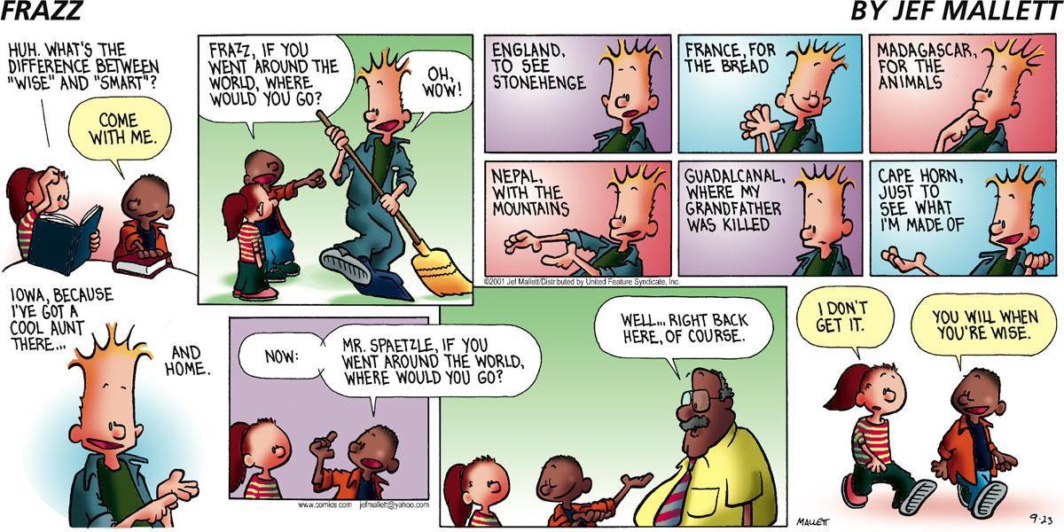 Frazz Comic Strip for September 23, 2001