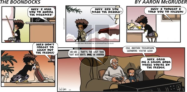 The Boondocks on Sunday May 16, 2021 Comic Strip