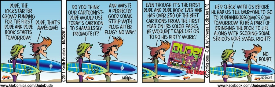Dude and Dude for Oct 23, 2013 Comic Strip