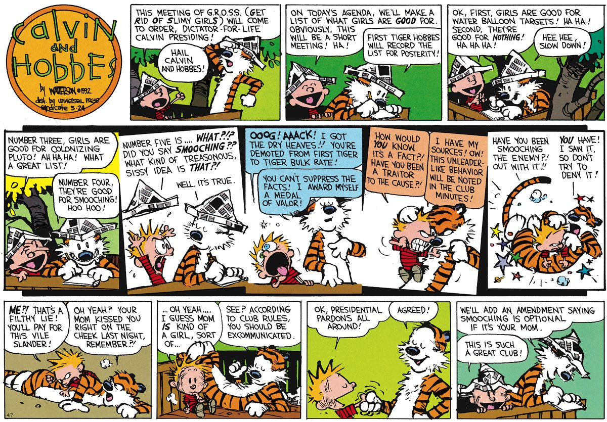 Calvin and Hobbes Comic Strip for May 27, 2012