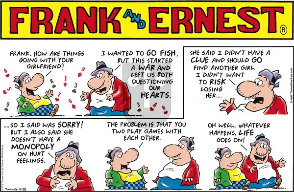 Frank and Ernest on Sunday April 28, 2019 Comic Strip