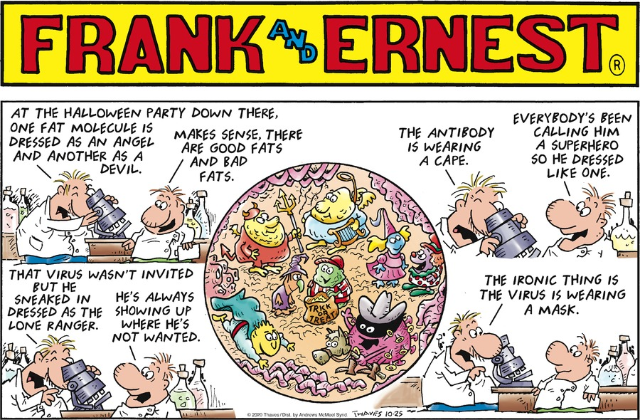Frank and Ernest Comic Strip for October 25, 2020