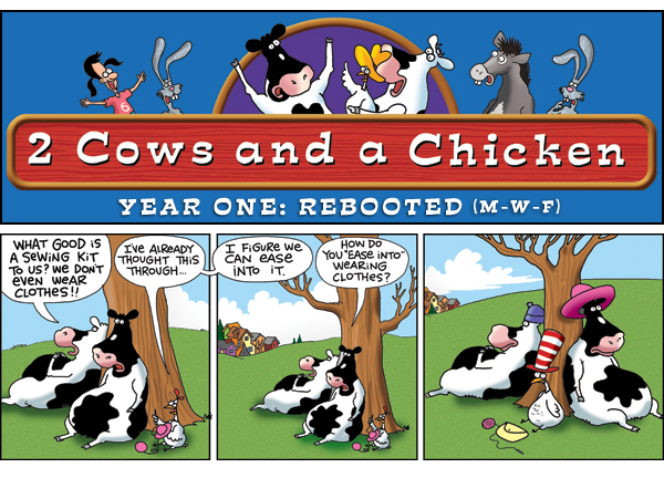 2 Cows and a Chicken for Jun 5, 2013 Comic Strip