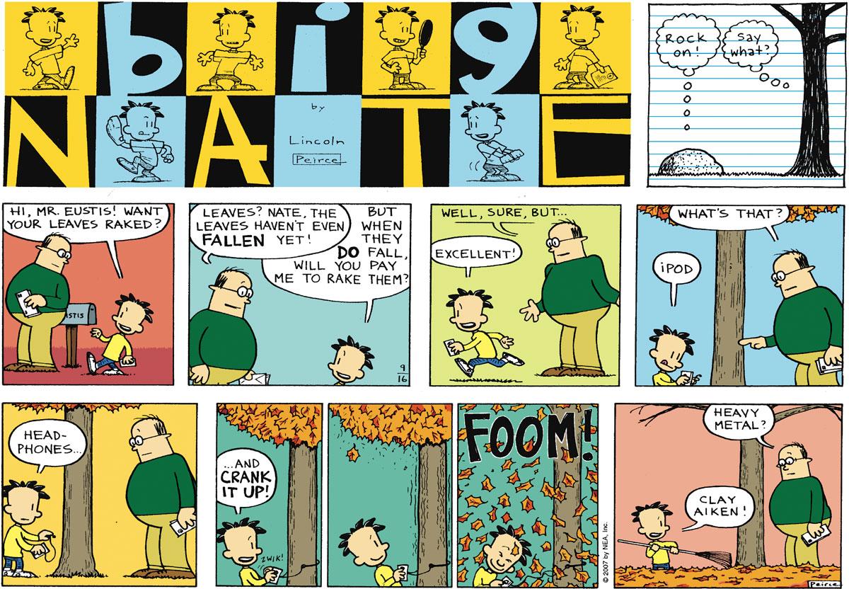 Big Nate Comic Strip for September 16, 2007