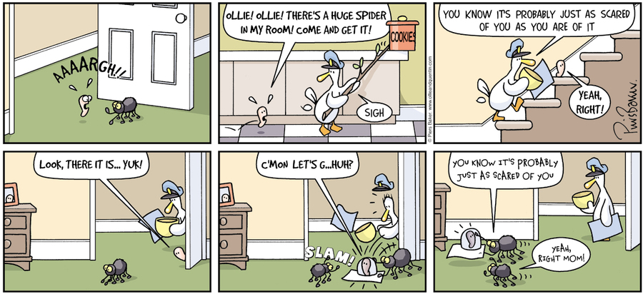 Ollie and Quentin for Nov 18, 2012 Comic Strip
