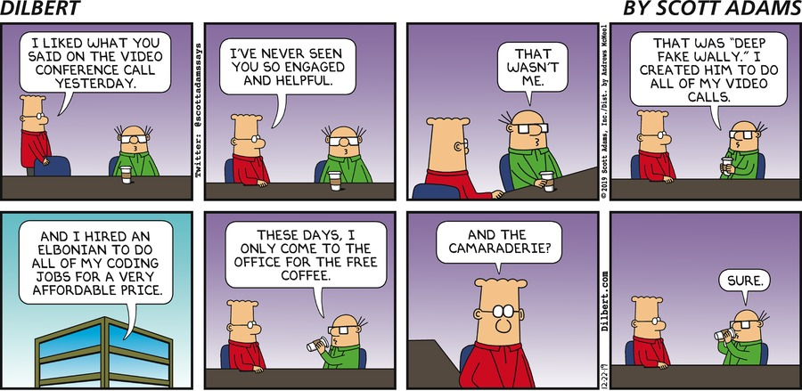 Wally Uses Deep Fake - Dilbert by Scott Adams
