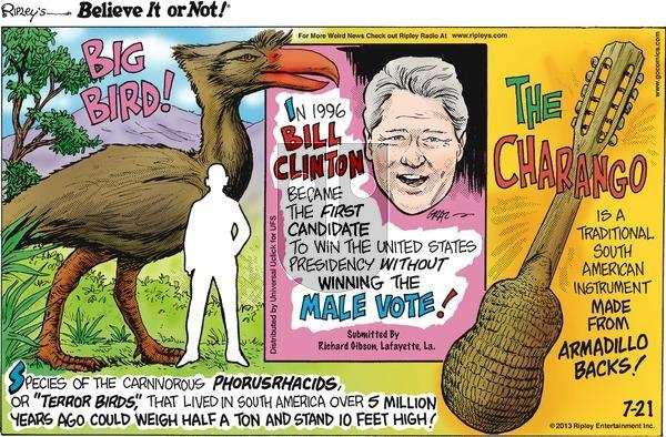Ripley's Believe It or Not on Sunday July 21, 2013 Comic Strip