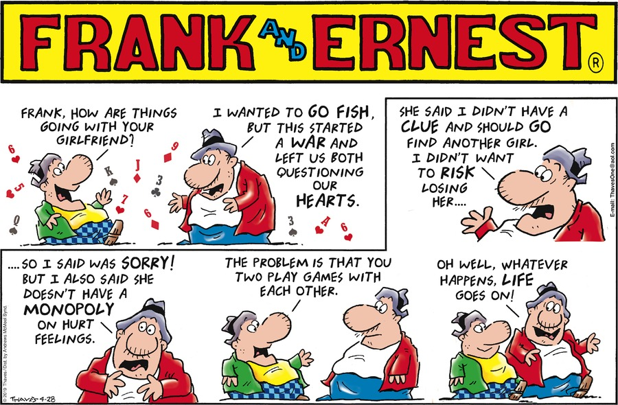 Frank and Ernest Comic Strip for April 28, 2019