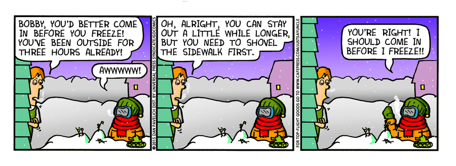 Just Say Uncle Comic Strip for February 04, 2015