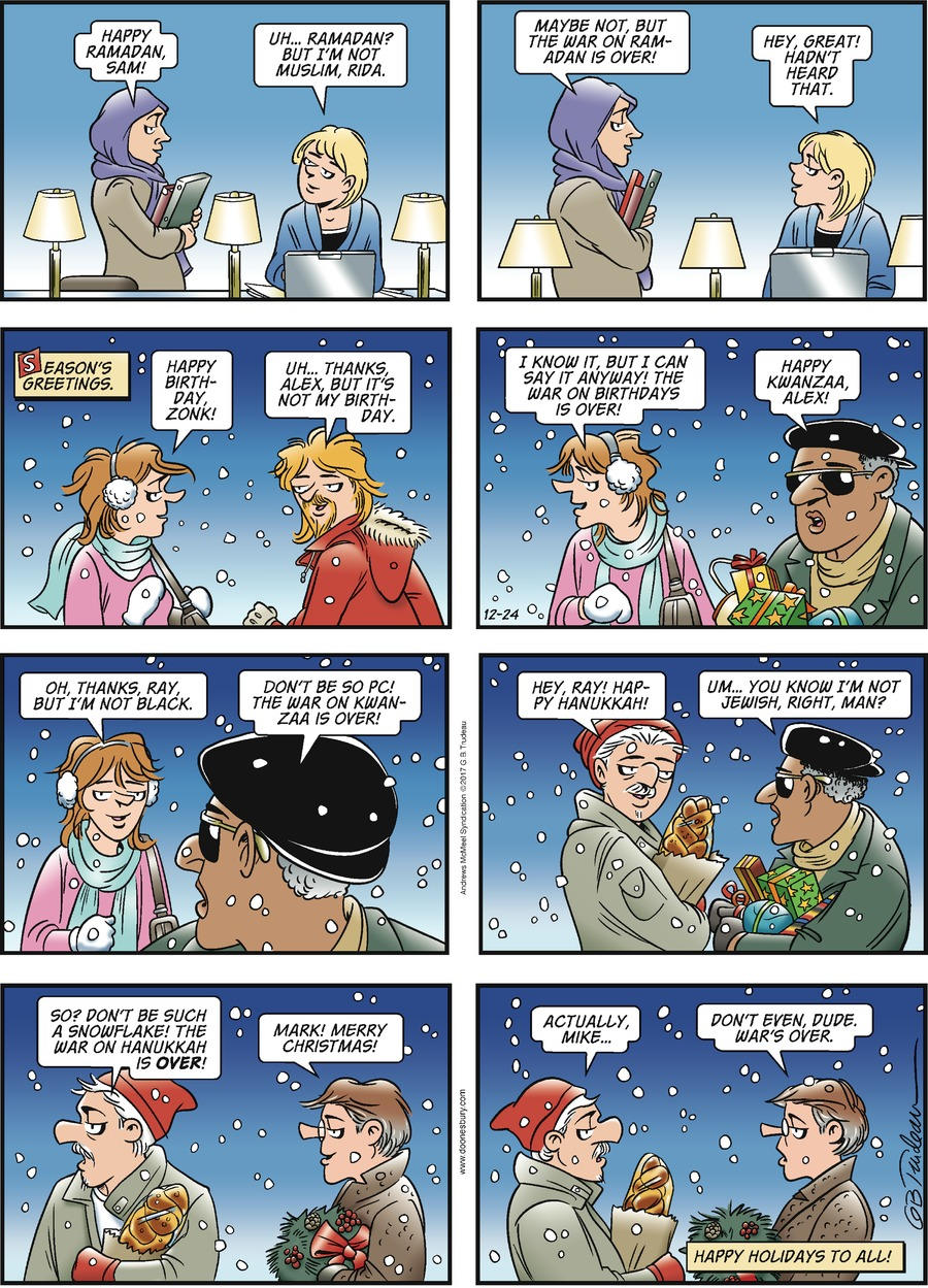 Doonesbury Comic Strip for December 24, 2017