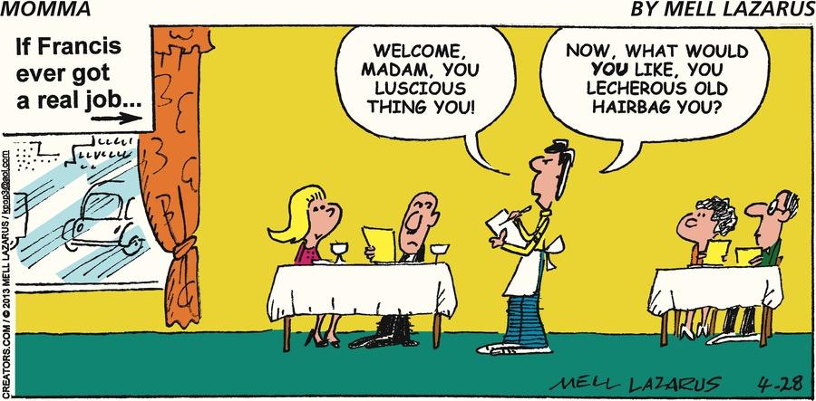 Momma for Apr 28, 2013 Comic Strip