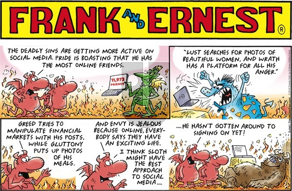 Frank and Ernest on Sunday July 15, 2018 Comic Strip