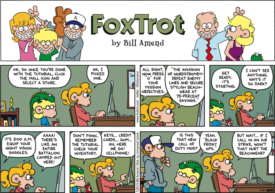 FoxTrot for Nov 24, 2013 Comic Strip
