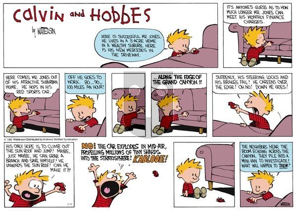Calvin and Hobbes - Sunday February 12, 2017 Comic Strip
