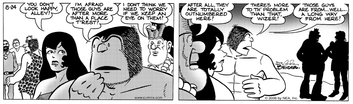 Alley Oop for Aug 24, 2006 Comic Strip