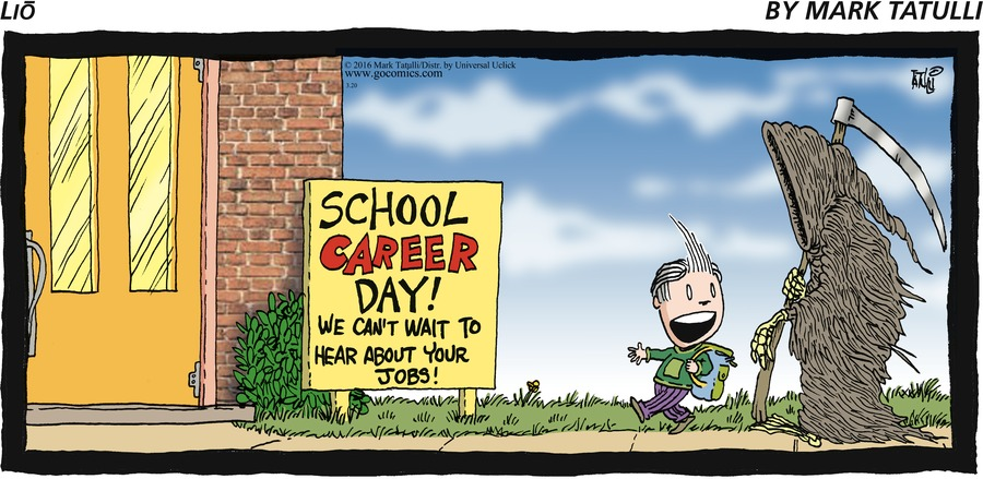 School Career Day! We can't wait to hear about your jobs!
