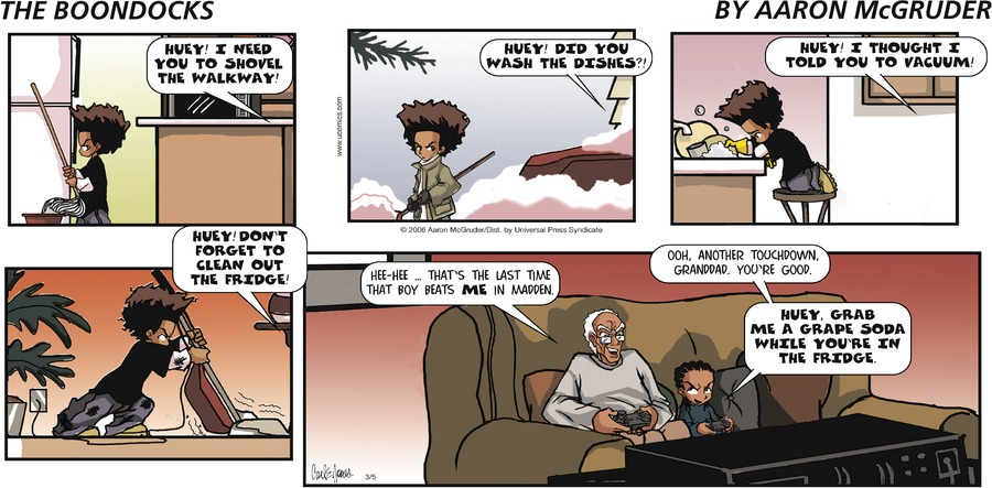 The Boondocks Comic Strip for May 16, 2021