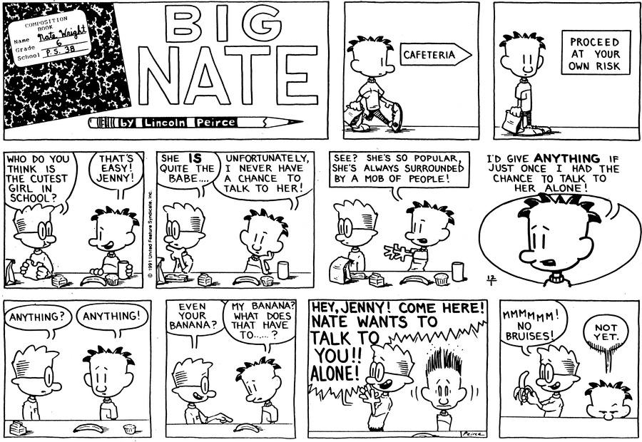 Big Nate Comic Strip for December 01, 1991