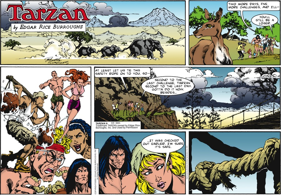 Tarzan by Edgar Rice Burroughs for September 08, 2019
