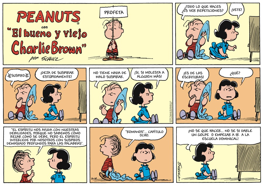Snoopy en Español Comic Strip for February 14, 2021