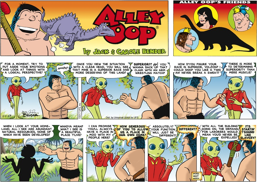 Alley Oop Comic Strip for January 01, 2017