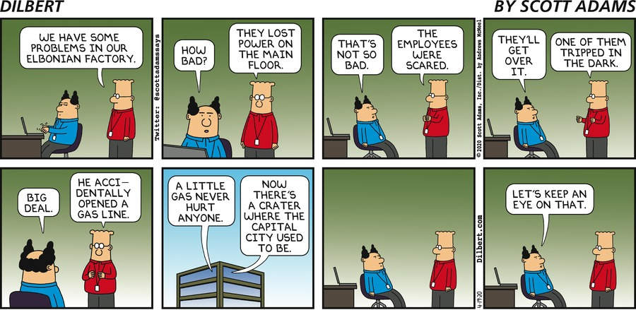 Elbonian Factory Problem - Dilbert by Scott Adams