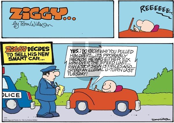 Ziggy - Sunday March 15, 2020 Comic Strip