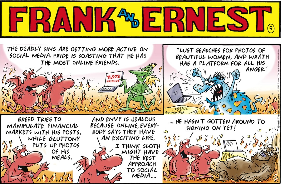 Frank and Ernest Comic Strip for July 15, 2018