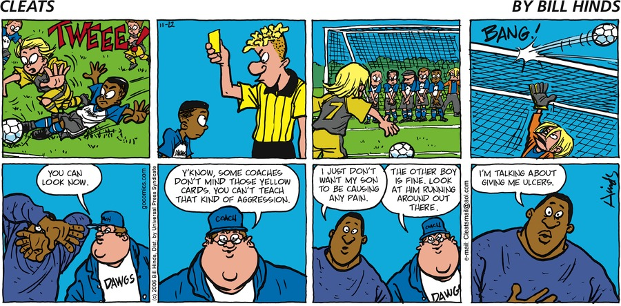 Cleats Comic Strip for November 12, 2006