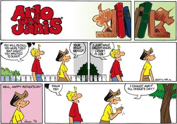 Arlo and Janis on Sunday May 13, 2007 Comic Strip