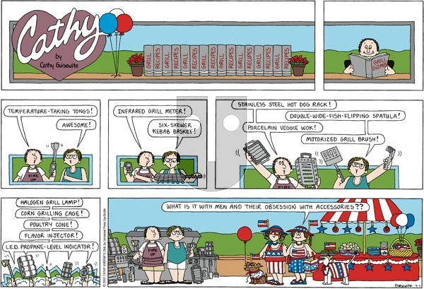 Cathy Classics on Sunday July 1, 2007 Comic Strip
