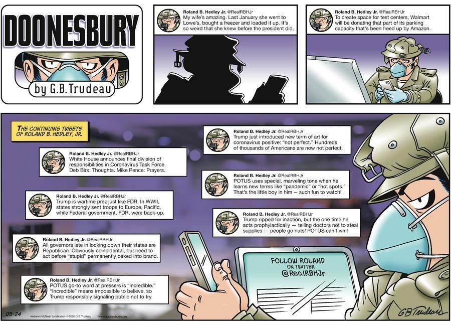 Doonesbury Comic Strip for May 24, 2020