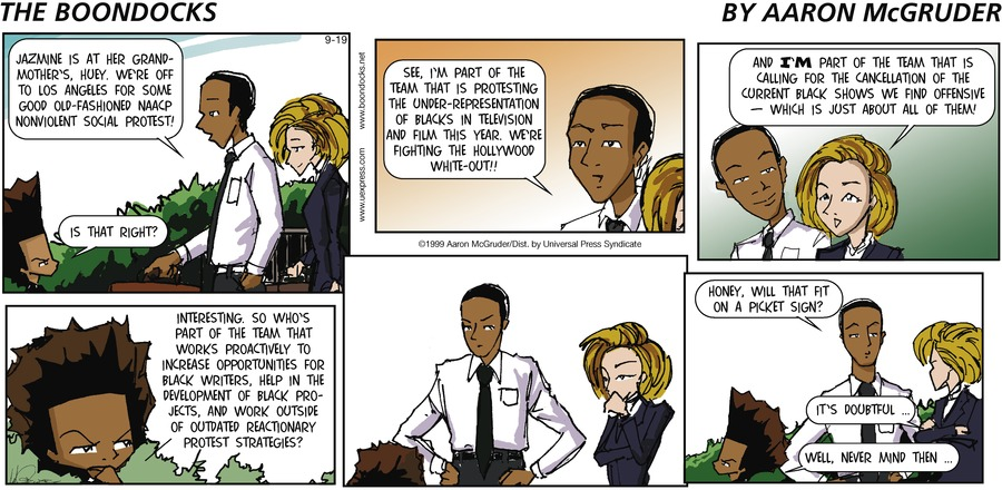 The Boondocks Comic Strip for September 19, 1999