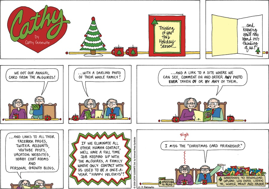Cathy Comic Strip for December 13, 2009