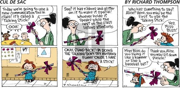 Cul de Sac on Sunday November 11, 2012 Comic Strip