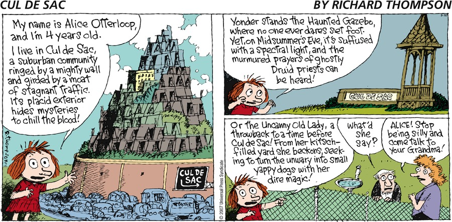 Cul de Sac for Sep 16, 2007 Comic Strip