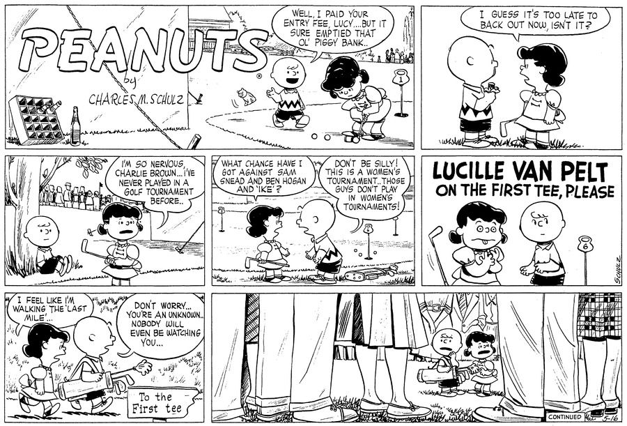 Peanuts Comic Strip for May 16, 1954